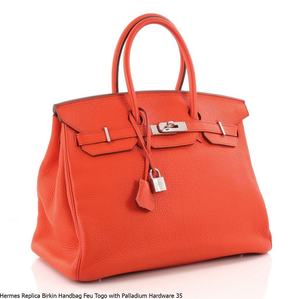 0915150d639d Hermes Replica Birkin Handbag Feu Togo with Palladium Hardware 35 – Hermes  Replica Bags
