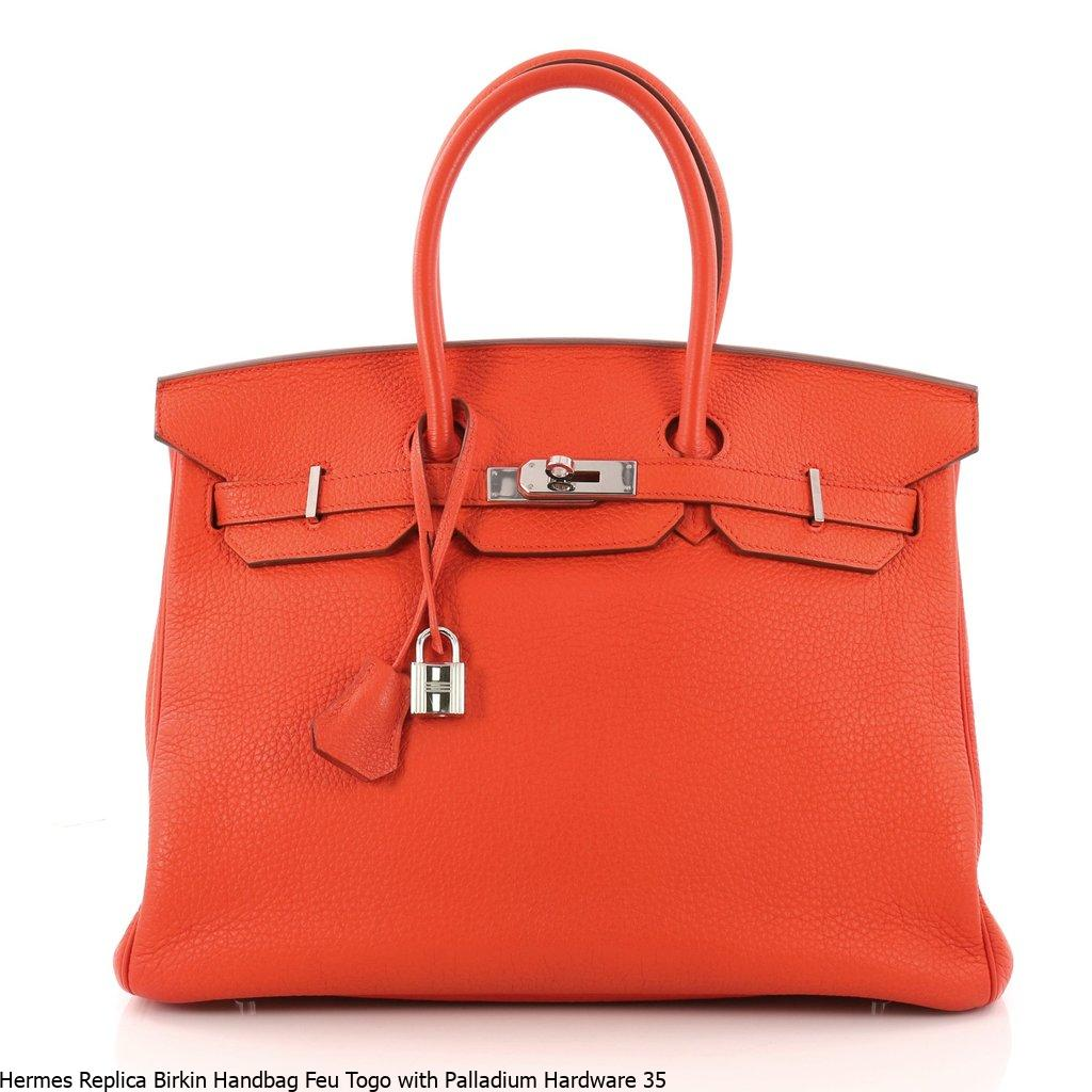 e2c97f7f70f3 Hermes Replica Birkin Handbag Feu Togo with Palladium Hardware 35 – Hermes  Replica Bags